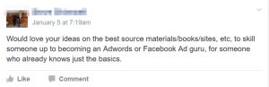 social media google ads question facebook